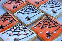 Squibs And Crackers: Spider Halloween Cookies