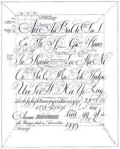 Kalligrafie Alphabet