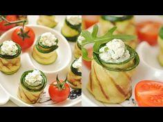 Рулетики из цуккини с творогом  Zucchini rolls with cheese