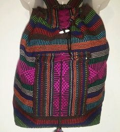 Boho Multi-Color Hippie Festival Beach Hobo Slouchy Backpack Bookbag #Unbranded #Backpack
