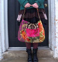 vintage velvet Bohemian bag
