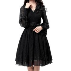 e8abd8bf31077 Amazon.com  Artka Women s Classical Embroidery Lace Feminine Witch Swing  Dress M Black