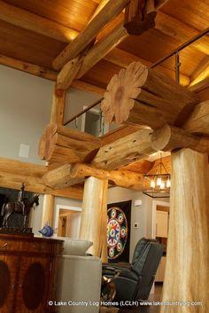 Custom Red Cedar Post and Beam Log Home