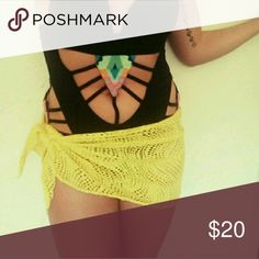 Sarong **Super cute just don't use it so deciding to sell** SOMEONE SHOULD GET SOME USE OUT OF THIS BEAUTIE! !  YELLOW  SARONG  BY : OP op Swim Sarongs