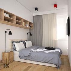 Mała, jasna sypialnia
