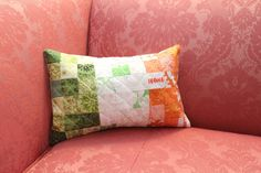 Irish flag patchwork quilted pillow!