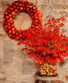 Apples, wreath and florals