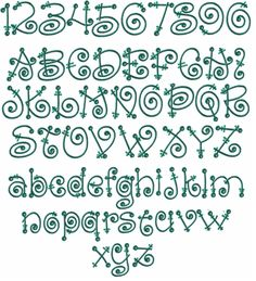 Fairy Tale #37 Embroidery Font | Apex Embroidery Designs, Monogram Fonts & Alphabets