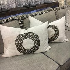 Cushions in Atlantic and sofa in Felt So Good. How To Introduce Yourself, Cushions, Felt, Sofa, Throw Pillows, Fabric, Cotton, Leather, Design