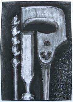 charcoal drawing of tools - Google Search