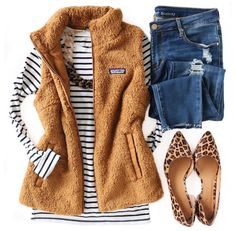 Casual Outfits, Cute Outfits, Fashion Outfits, Womens Fashion, Vest Outfits For Women, Fall Winter Outfits, Autumn Winter Fashion, Winter Style, Spring Style