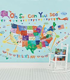 oh say can you see peel & place wall art $109 http://www.chasing-fireflies.com/oh-say-can-you-see-peel-place-wall-art/productinfo/35083/