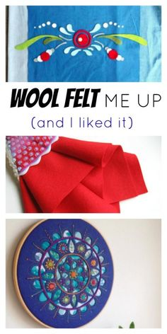 Here's some inspiration for incorporating wool felt into your sewing projects! Photos via Mandalei Quilts, Felt on the Fly, and Betz White.