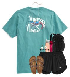 A fashion look from September 2016 featuring long sleeve t shirts, NIKE and flat shoes. Browse and shop related looks. Camp Outfits, Sporty Outfits, Pink Outfits, New Outfits, Stylish Outfits, Simple Outfits For School, Cute Summer Outfits, Outfits For Teens, Cute Athletic Outfits