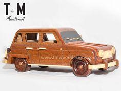 Mini Cooper : Handcrafted Mahogany Wooden Model Car - Mahogany Wood Art - Gift