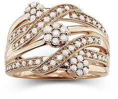 jcpenney FINE JEWELRY diamond blossom 1/2 CT. T.W. Diamond Cluster Orbit Ring on shopstyle.com