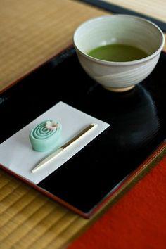 Green tea and Wagashi, Japan