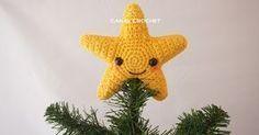 How to crochet an amigurumi star Crochet Christmas Trees, Christmas Knitting, Diy Christmas Ornaments, Amigurumi Tutorial, Crochet Patterns Amigurumi, Crochet Home, Cute Crochet, Crochet Stars, Crochet Videos