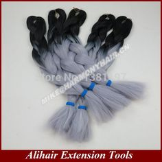 *WINNER!!! Find More Hair Weaves Information about FREE Shipping (5pieces/lot) 24inch100grams/pack Black&Grey Ombre Two Tone Coloured 100% Kanekalon Jumbo Braiding Hair,High Quality shipping agent,China hair Suppliers, Cheap hair accessories free shipping from Alihair Extension Tools on Aliexpress.com