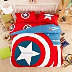 8aa2572de Captain america bedding set | EBeddingSets Girls Bedding Sets, Duvet  Bedding Sets, Bedding Sets