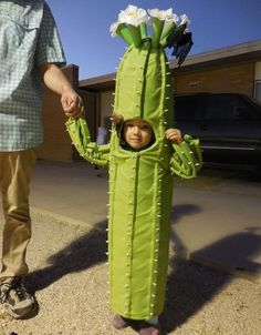 Steal the show with this adorable DIY cactus girl's costume.