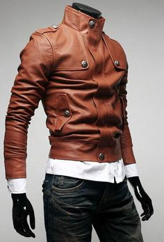 wholesale-lapelled-collar-zipper-embellished-pu-jacket-orange