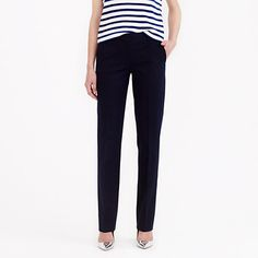 "A new silhouette for the season: slim (but not too skinny) and tailored in stretchy cotton that's as comfortable as it is polished. <ul><li>Sits above hip.</li><li>Slim through hip and thigh, with a slim, straight leg.</li><li>32"" inseam.</li><li>Cotton/rayon with a hint of stretch.</li><li>Unlined.</li><li>Dry clean.</li><li>Import.</li></ul>"