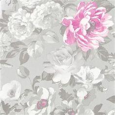 42 ideas for pink floral wallpaper bedroom designers guild Designers Guild Wallpaper, Designer Wallpaper, Drops Patterns, Burke Decor, William Morris, Pattern Wallpaper, Painting, Vintage, Flowers