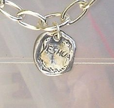 YESHUA / SALVATION bracelet Unisex sterling by HedvaElanyJewelry, $147.00