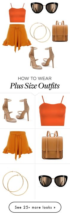 """Orange look🌷"" by noyushm on Polyvore featuring River Island, WearAll, Venus, Chanel, orangeoutfit and popsoforange Venus, Plus Size Outfits, River Island, Chanel, Orange, Sunglasses, Clothing, Polyvore, Shoes"