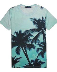 038813178bf Hawaii 3D palm tree t shirt for men short sleeve 3d T Shirts