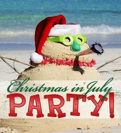 Can't forget the music and activities to round out your Christmas in July party!