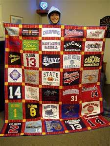 I Have Already Started Saving My Sons Shirts From Pee Wee Sports His Quilt Will Be Huge By The Time He Graduates What A Great Graduation Present