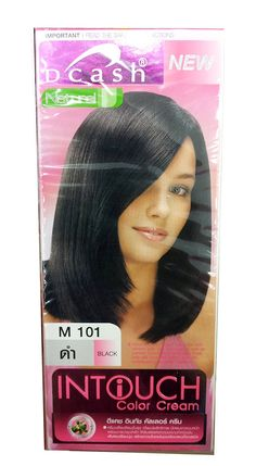 Dcash Intoch Hair Color Cream M 101 /Black 1 Box Thailand -- Check this awesome product by going to the link at the image.