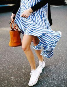 On aime quand les rayures bleues et blanches s'aventurent en dehors des sentiers battus (photo Camille Charrière)
