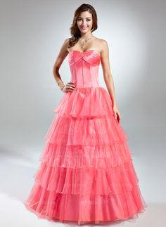 Quinceanera Dresses - $210.99 - Ball-Gown Sweetheart Floor-Length Organza Satin Quinceanera Dress With Beading Cascading Ruffles (021015579) http://hochzeitstore.com/Ball-gown-Sweetheart-Floor-length-Organza-Satin-Quinceanera-Dress-With-Beading-Cascading-Ruffles-021015579-g15579