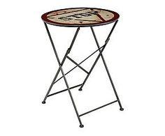 Tavolino pieghevole in betulla e metallo Stop - 60x77x60 cm