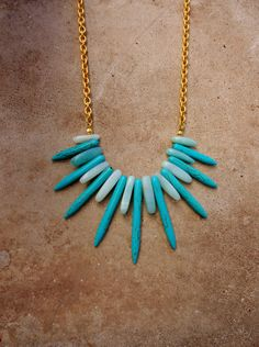 Amazonite and Turquoise Howlight Statement by MoonAndPearlJewelry, $39.00