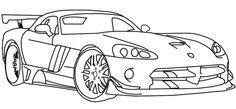 Dodge Viper Coloring Page