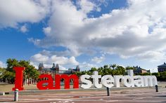 Amsterdam, Netherlands - There were crowds of people climbing this sign for pictures when we were there.
