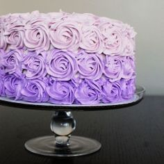 I celebrated my 1000th Post with a Party featuring all purple food! Including this Purple Ombre Cake