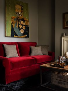 Our new Carrick sofa; seen here in Claret pure cotton matt velvet, looking very austere and sophisticated! From £995. http://www.sofa.com/shop/sofas/carrick#120-HOUCOO--0