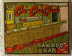 Vintage matchbook for Chi-Chi Club, Salt Lake City Chi Chi, Design Observer, Bamboo Bar, Book Labels, Matchbox Art, Retro Images, Art Images, Fire Art, Light My Fire
