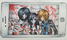 We all have our selfie moments Jeff the Killer, Jane the Killer,Homicidal liu