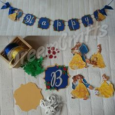 Check out this item in my Etsy shop https://www.etsy.com/listing/494498588/beauty-and-the-beast-banner-belle-banner