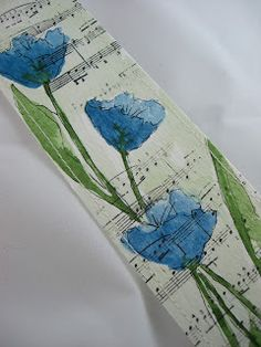 Floral/music bookmark