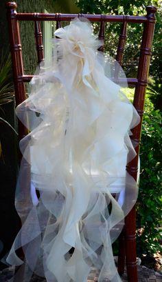 Set of 10 Custom Chair Sash Curly Willow by elegantsashesandmore