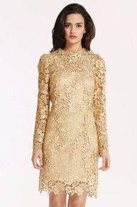 Champagne Long Sleeve Crochet Lace Dress by Bisifashion1 on Etsy https://www.etsy.com/listing/223478330/champagne-long-sleeve-crochet-lace-dress