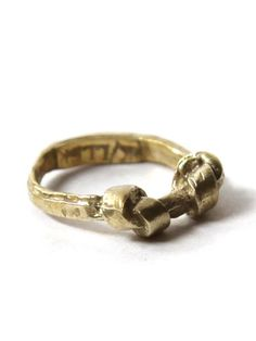 Brass Double Knot Ring by K/LLER COLLECTION, $83