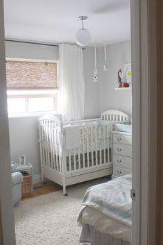 Great inspiration for a small nursery room. urbane jane.: the nursery reveal.